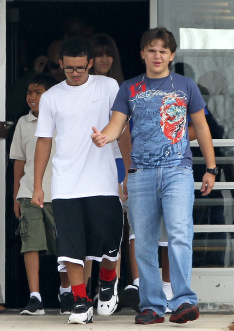 Johnathan and his cousin Prince Jackson at Six Flags in illinoise NEW August 2012