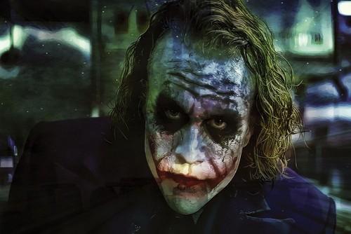 小丑 壁纸 entitled Joker Canvas Print