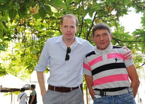 Josef Vana with director Jakub Wagner younger