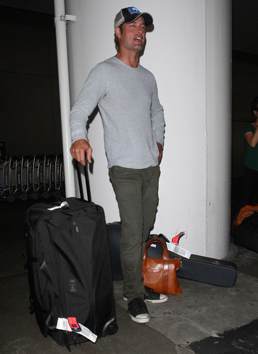 Josh Holloway arrived at the LAX Airport in Los Angeles, California on August 22, 2012
