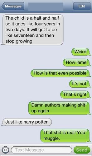 Just Like Harry Potter...