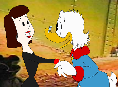 Katie Blossom De Spell And Scrooge McDuck