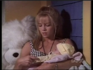 Kelly holding Baby Silver