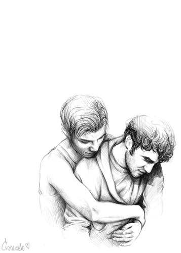 Kurt and Blaine wallpaper probably containing skin called Klaine
