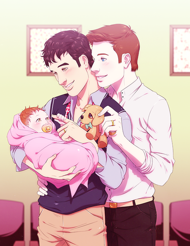 Kurt and Blaine wallpaper possibly with anime entitled Klaine