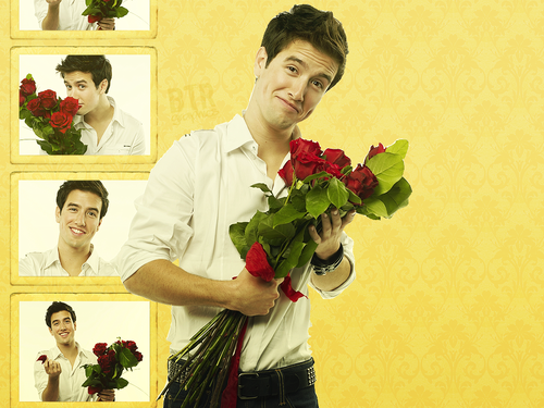 Logan Henderson wallpaper containing a bridesmaid and a bouquet entitled LOGAN