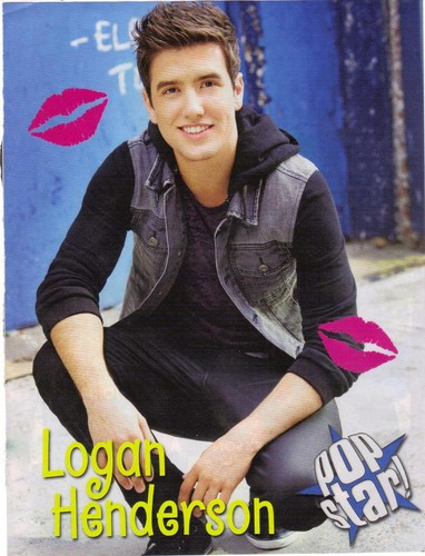 Logan Henderson kertas dinding probably with a sign titled LOGAN