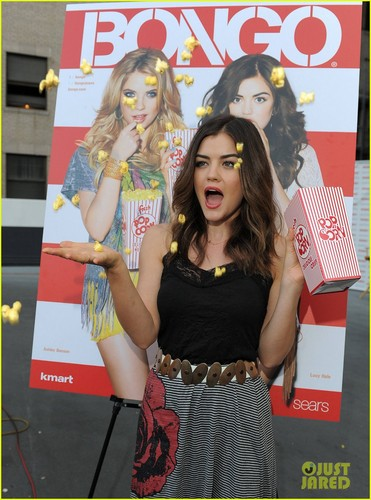 Lucy at a screening of the latest episode of PLL at Bongo's DriveIn in LA
