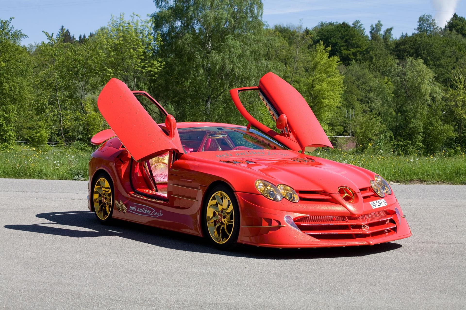 Mercedes Benz Images Mercedes Benz Slr Mclaren 999 Red Gold Hd