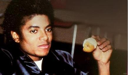 MJ eating a pear