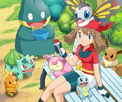 May and her Pokemon