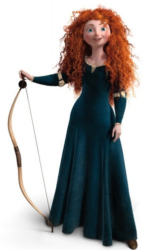 Ribelle - The Ribelle - The Brave wallpaper probably with a kirtle, veste entitled Merida posing