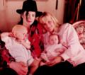 Michae, Debbie Rowe, Prince & Paris