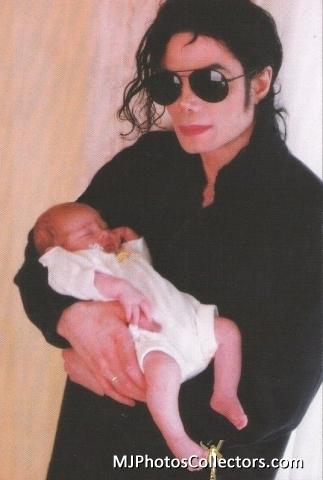 Michael And Baby Daughter, Paris