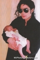 Michael And Baby Daughter, Paris - michael-jackson photo