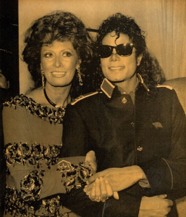 Michael And Legendary Film Actress, Sophia Loren