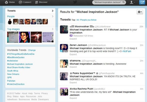 Michael Jackson Trending Worldwide on Twitter