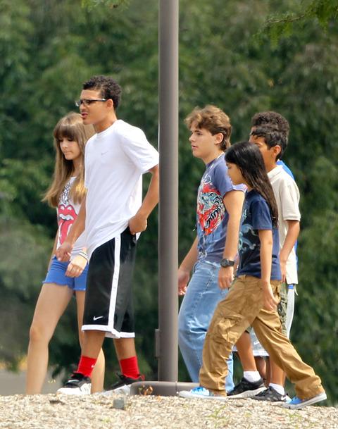 Michael Jackson's Kids Prince, Paris and Blanket with their cousins Royal, Johnathan and James