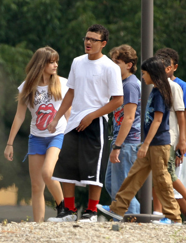 Michael Jackson's Kids Prince, Paris and Blanket with their cousins Royal, Johnathan and James