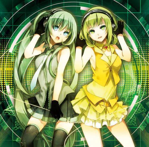 Vocaloids wallpaper called Miku and Gumi