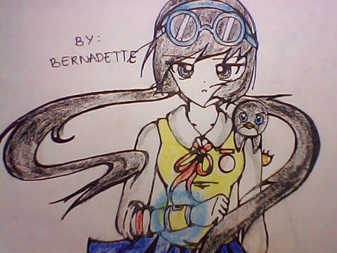 Boboiboy achtergrond with anime called My fan Art of Ying anime Teenager with Popo