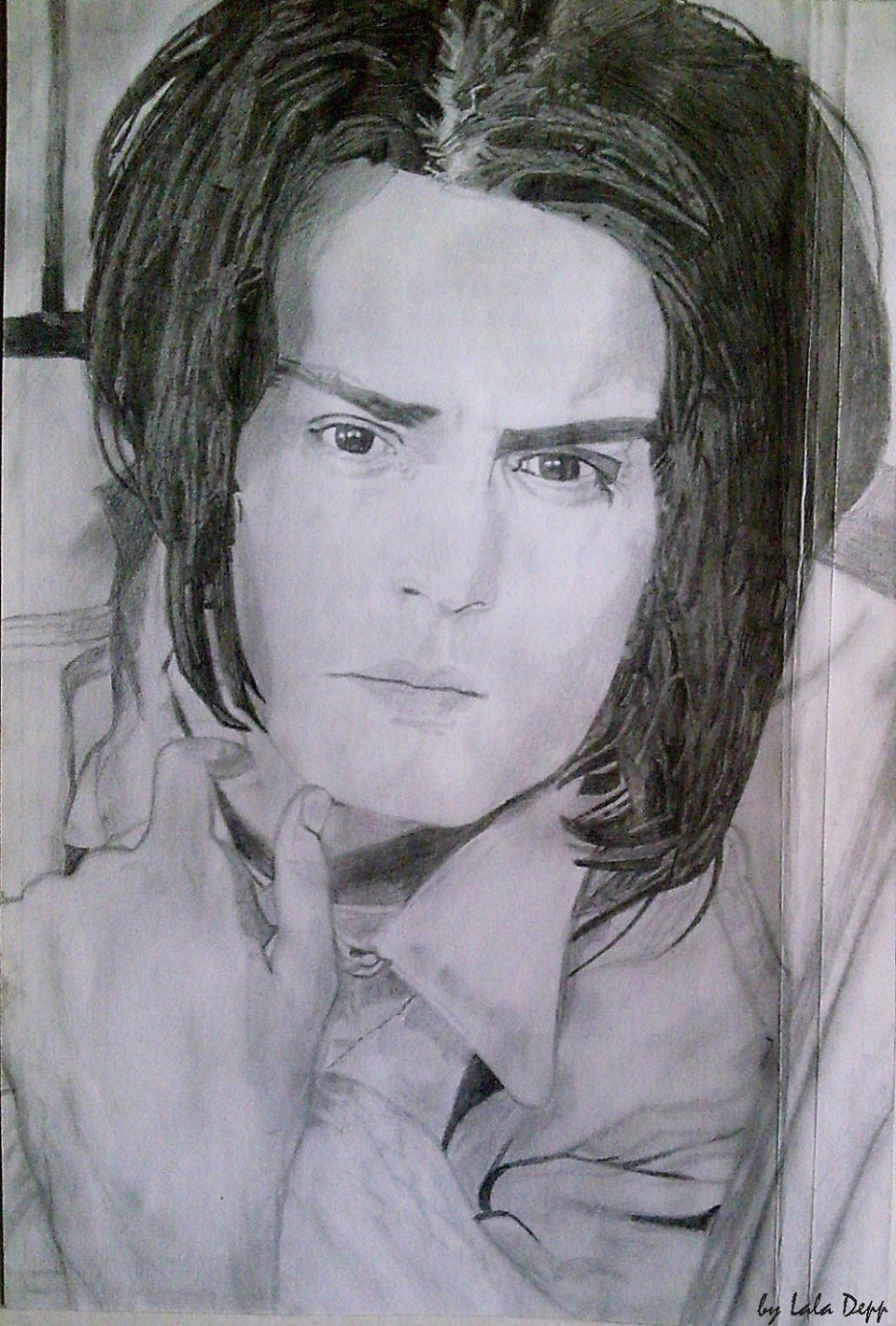 My Johnny Depp drawing:)