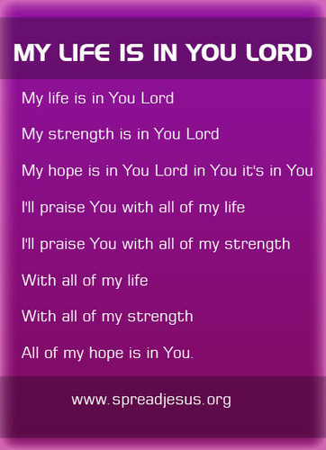 My Life Is In tu Lord