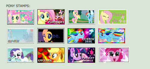 My 小马 Stamps on DA