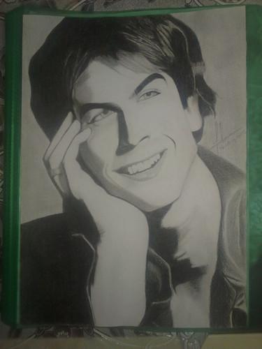 My Sketch Of Ian Somerhalder