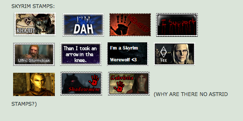 My Skyrim Stamps on DA