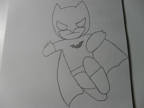 My बिना सोचे समझे बैटमैन drawing