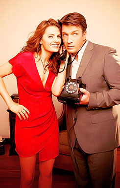Nathan Fillion & Stana Katic wolpeyper containing a business suit titled Nathan Fillion & Stana Katic