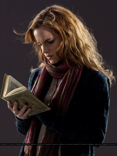 Hermione Granger wallpaper probably with a sign titled New promotional pictures of Emma Watson for Harry Potter and the Deathly Hallows part 1