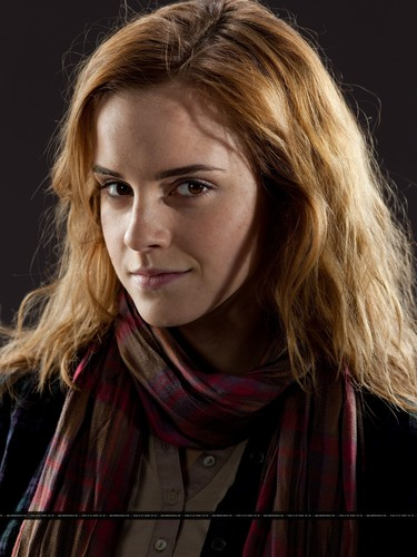 Hermione Granger wallpaper possibly containing a portrait entitled New promotional pictures of Emma Watson for Harry Potter and the Deathly Hallows part 1