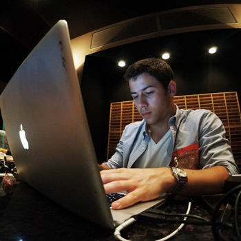 Nick Jonas studio 2012