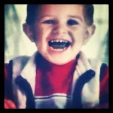 Nick as a little boy