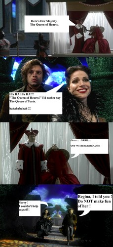 OUATComics - Regina, queen of Hearts and Jefferson