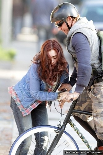 On the set of 'The Mortal Instruments: City of Bones' (August 21, 2012)