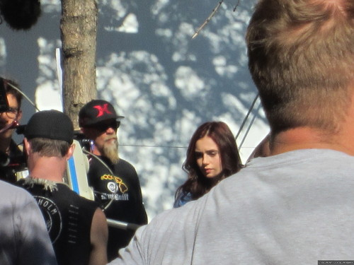 On the set of 'The Mortal Instruments: City of Bones' (August 21, 2012) - lily-collins Photo