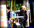 On the set of 'The Mortal Instruments: City of Bones' (August 22, 2012) - jamie-campbell-bower photo