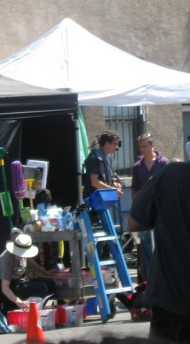 On the set of 'The Mortal Instruments: City of Bones' (August 22, 2012)
