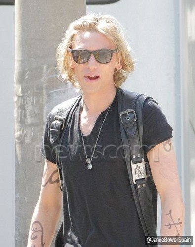 On the set of 'The Mortal Instruments: City of Bones' (August 23, 2012)
