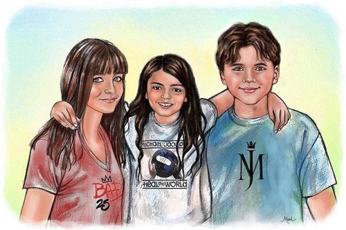 Paris Jackson, Blanket Jackson and Prince Jackson