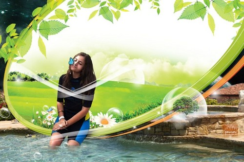 Paris Jackson Green Pool (@ParisPic)