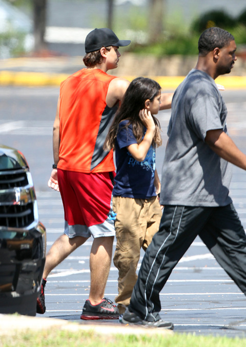 Paris's brothers Prince Jackson and Blanket Jackson at Six Flags in illinois NEW August 2012