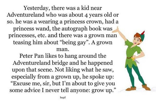 Peter Pan- Not Happy