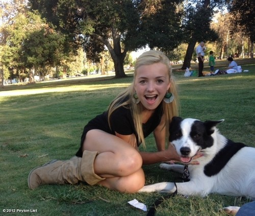 Peyton and her dog Bolt