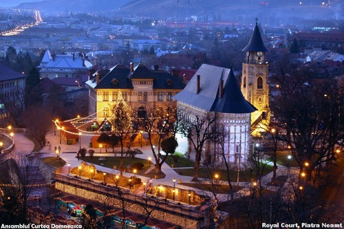 Piatra Neamt, Romania city Royal Court beautiful landscape