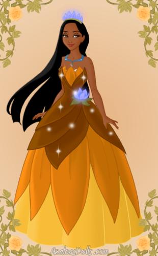 Pocahontas as Tiana