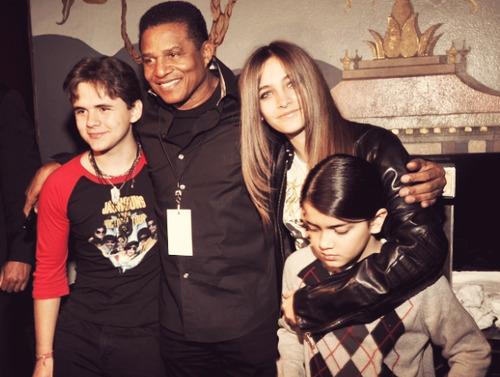 Prince Jackson, Jackie Jackson, Paris Jackson and Blanket Jackson
